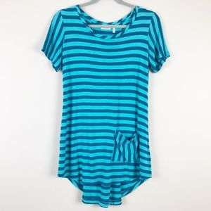 LOGO Lori Goldstein Striped Tunic